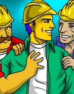 Gays hit construction site
