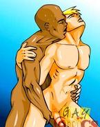 Interracial gay sex toon