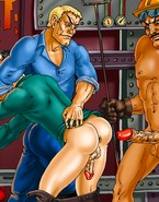 Workers in twink orgy
