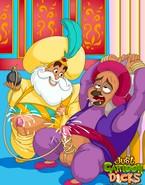 Horny sultan from Aladdin series fucking pain-loving homo kinks raw