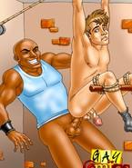 White homo sexual intercourse thrall in serious trouble