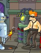 Gay robot from Futurama