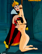 Snow White becomes the Queen's sex slave in bondage. Snow White is getting aroused by the torture and humiliation!