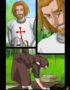 Nun pleasures a courageous knight