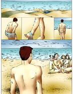Comic series with a nudist seducing a hawt redhead