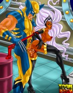 Well-hung doms from X-Men porn team trying to break misbehaving bitch Storm in