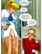 Hung blonde tranny fucks her boss