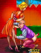 Tough cartoon gents servicing shemale meat
