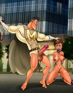 Huge-dicked superheros and their sexual intercourse slut