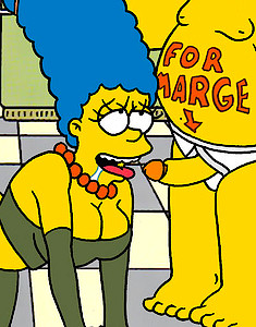 Homer Simpson Gives Marge Simpson