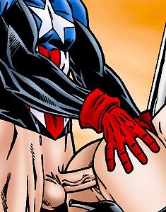 Captain America Fucking Black Widow's