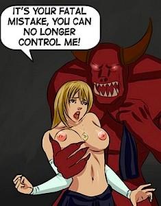 Monster penetrates witch balls deep