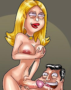 Futanari babes from American Dad toon