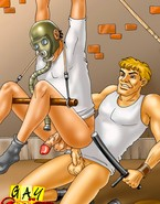 Anal torture for spy