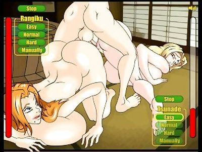 Hentai threesome with Tsunade and Matsumoto Game