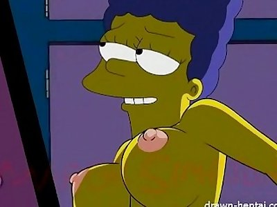 Loise Griffin and Marge Simpson lesbian orgy