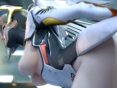 (Overwatch) Mercy Getting Pounded From Behind [Sound]