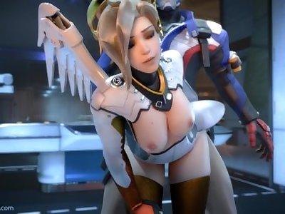 Overwatch - Mercy doggystyle