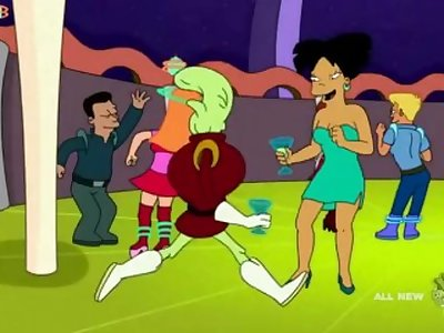 Futurama porn - Amy Wong and Turanga leela fucked in a club parodie