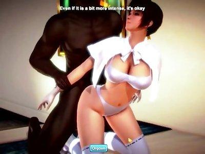 Kasumi versus Old Zack (Dead or Alive [DOA]) 3D