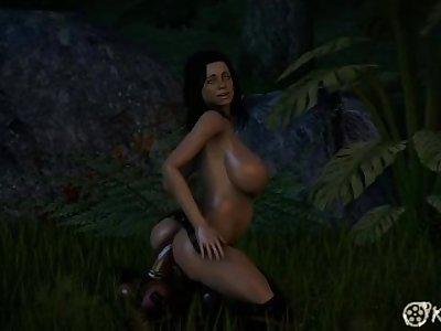 Mass effect Miranda fucking cock plants to a creampie