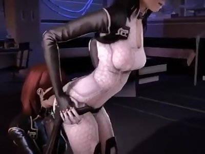 Mass effect Futa Femshep and Miranda