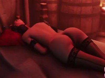 Lulu sleeping (final fantasy)
