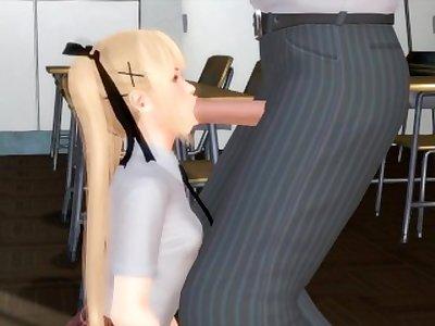 Marie Rose classroom blowjob