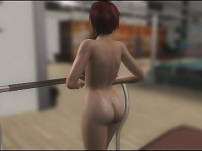 Mila Nude Running In a Treadmill
