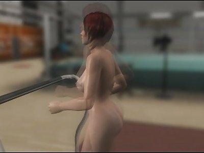 Mila Nude Running In a Treadmill