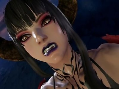 Eliza ryona in Tekken 7 with VR