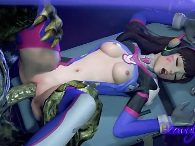 D.Va fucked by a monster (with sound) SFM