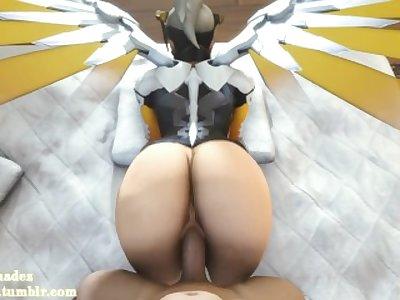 (Overwatch) Fucking Mercy POV [Sound]
