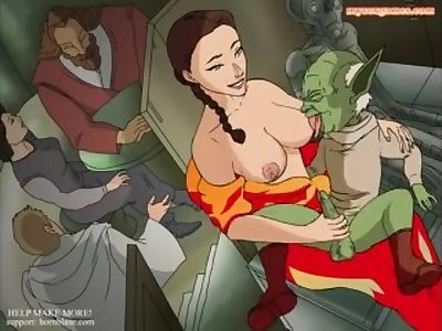 Padme Gives Yoda a Handjob