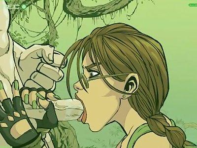 Lara Croft private camcorder