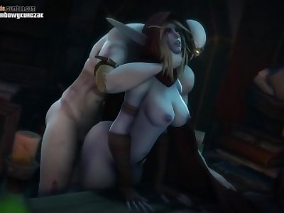 Lusty Sylvanas Gets Pounded Roughly In Her Tight Pussy From the Back