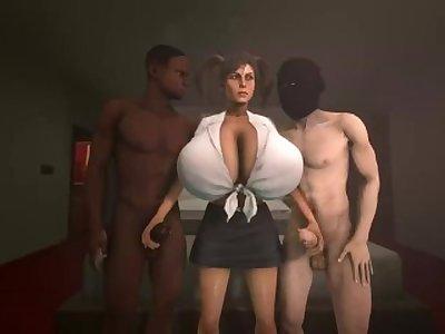 Lara threesome fun (fun)