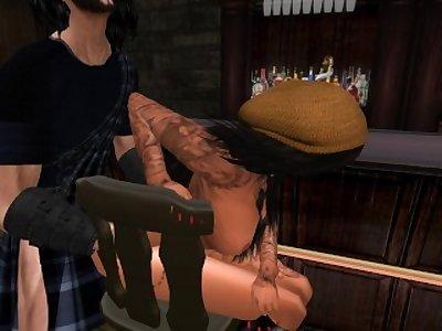 Ornella la femme de Clyde qui se fait prendre au comptoir par Owardo