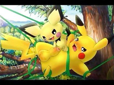 Pichu Humping Pikachu FULL SPEED