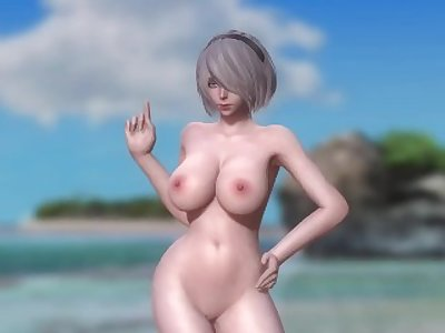 Dead or Alive 5 1.09BH & Mods - 2B Dancing on the Beach #1