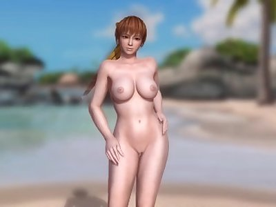Dead or Alive 5 1.09BH & Mods - Kasumi Dancing on the Beach #1