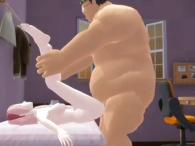Sakura Dominated by a Fat Guy