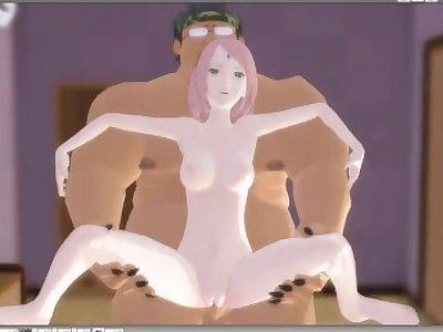 Sakura Dominated by a Fat Guy