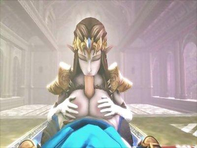 Zelda - Princess Tri-fuck (force) compilation