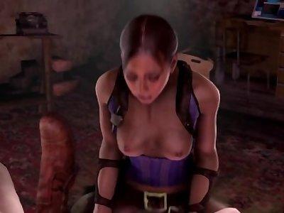 [BlackJrXIII] Resident Evil Futa Sheva x Jill x Rebecca