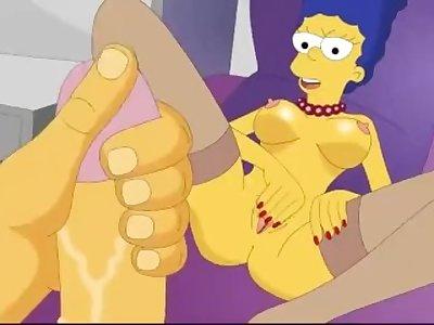 Simpson Marge Masturbe