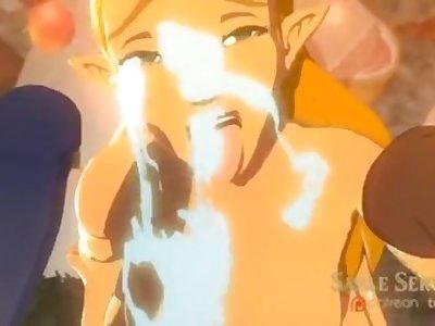 Zelda cum slut