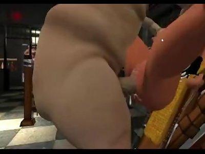 Fatass Slams Busty 3D Slut