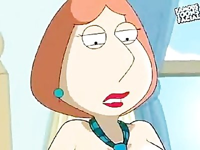 Peter and Lois Griffin from Family Guy having sex