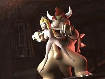 Princess Peach getting fucked by Bowser (Nintendo)